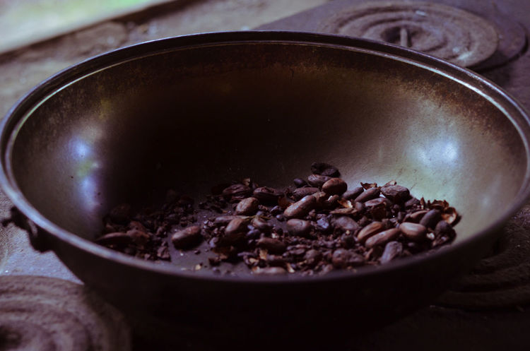 Bowl Brown Cacao Cacao Beans Cacao Grinder Chocolate Coffee Beans Coffee Grinder Fresh Preparation  Unprocessed On The Table