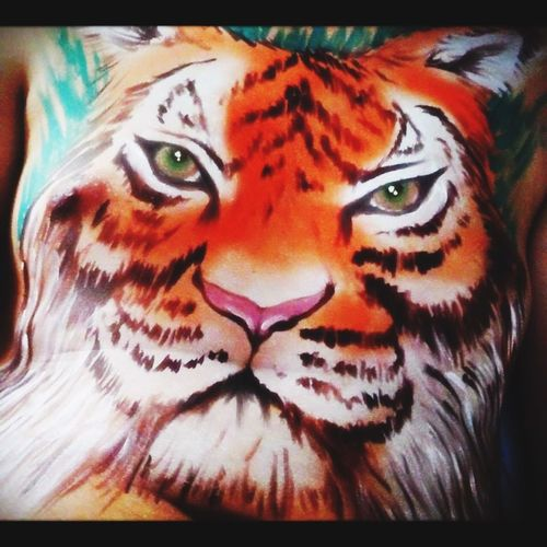 Wildlife & Nature Tiger Bodypainting Bodypaint Makeup Make It Yourself Animalmakeup