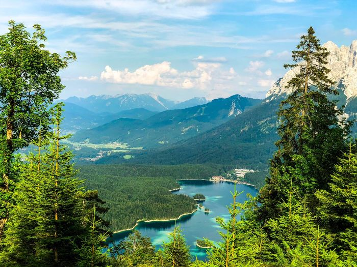 Eibsee in Bavaria Bayern Bavaria Landscape Grainau Travel Destinations Lakeside Lake Lake View Alpen Alps Eibsee Beauty In Nature Mountain Scenics - Nature Tree Water Sky Cloud - Sky Tranquil Scene Nature Mountain Range Tranquility Day Green Color Growth No People Non-urban Scene Idyllic Environment Outdoors