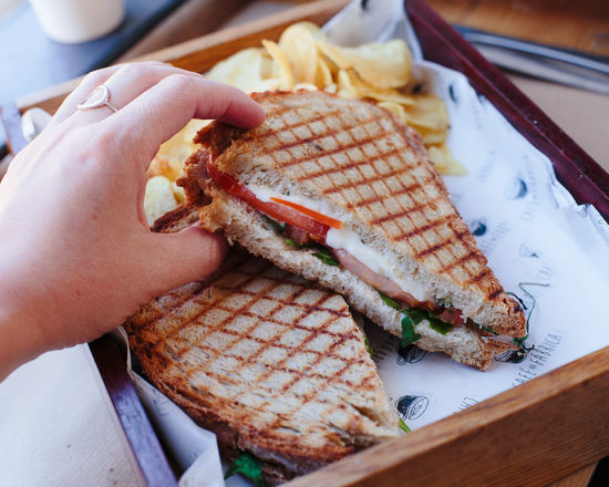 sweet beaty Sandwich Toast Close-up Day Fish Food Food And Drink Freshness Healthy Eating Human Body Part Human Hand Indoors  Lifestyles Men One Person People Ready-to-eat Real People Seafood Serving Size Toasted Bread Wood - Material