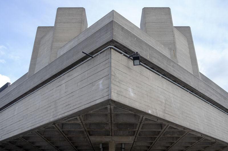 Architecture London Brutalism Concrete England Nationaltheatre Uk