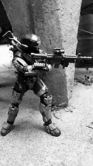 Day Real People Outdoors One Person Military Only Men One Man Only Adults Only People Adult Spartan HaloReach  Soldier Unsc Impact Fragility Blackandwhite Photography M-4 Toyartistry Toyartistry_and_beyond Toyartistry_alliance Toyartistry_elite Black And White Friday EyeEmNewHere