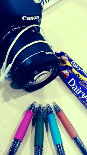 Canon Samsung Earphone CadburyDairymilk Colourful Pens