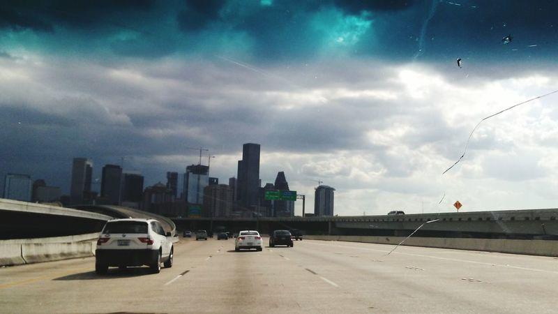 Stormy Skies Transportation Houston Citylife Downtown