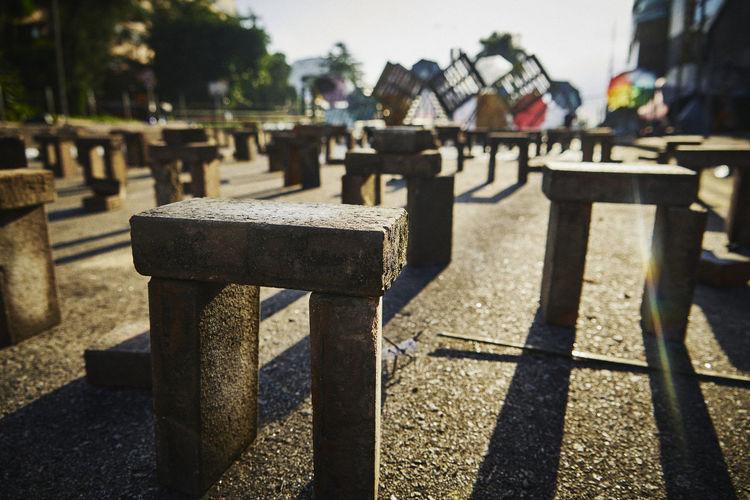 Row of cross on cemetery