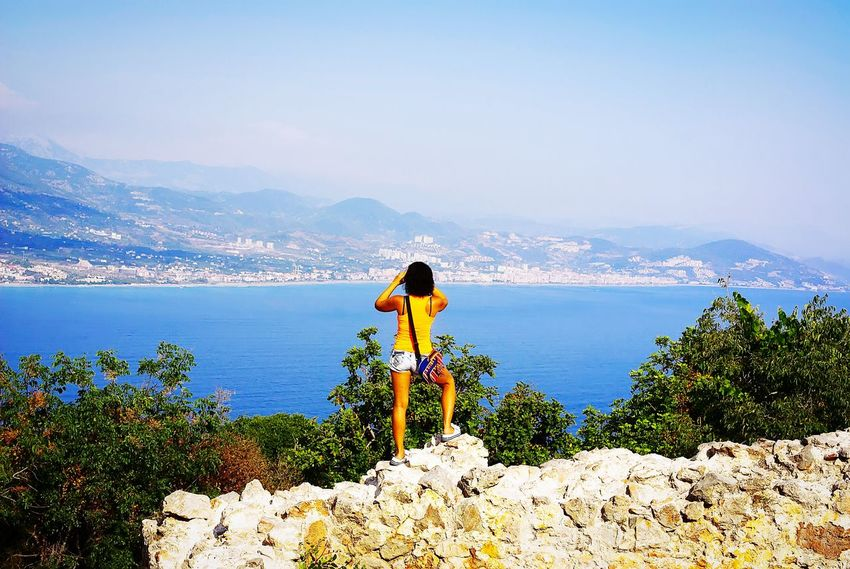 Looking a view from the fortress of Alanya.