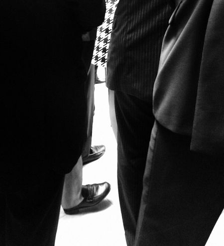 Today's about business black, suits, ties and shoes... Where has the color gone? Black And White Minimalism Enjoying The View Light And Shadow People Watching Stand Out From The Crowd Blackandwhite Blackandwhite Photography Black&white IPhoneography