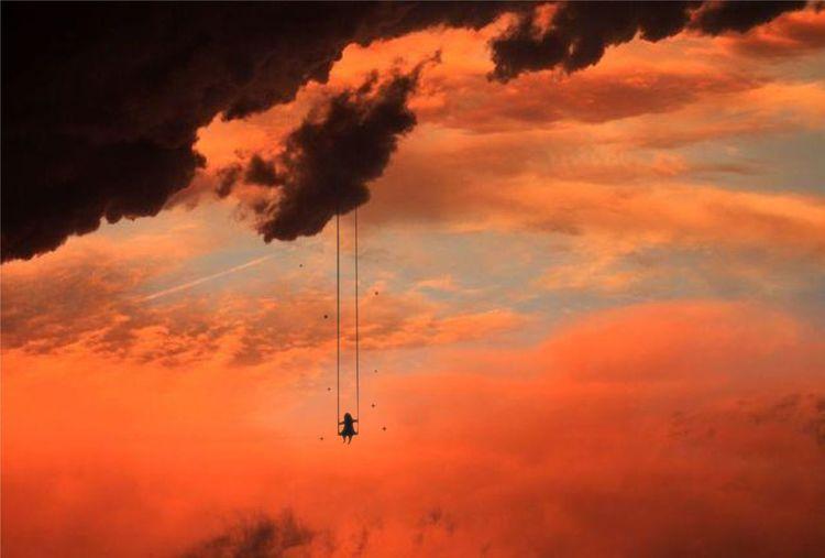 hang over HimmelHimmelSommerSonneSonnenuntergangSotdSummerSurreal Cloud - Sky Day Nature No People Sky Sunset TheWeekOnEyeEM Ahrrikies Surrealism Sureal Art  Surreal_manipulation Breathing Space Visual Creativity