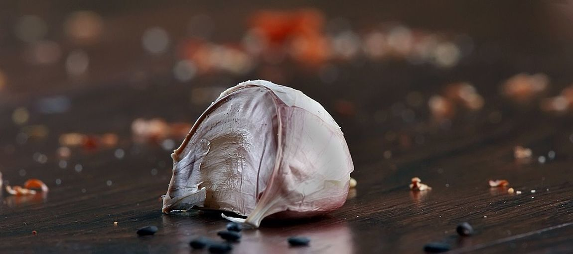 Garlic Still Life Garlic Bokeh Bawang Putih White