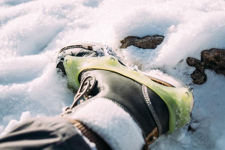 Foot Crampon Crampons Shoe Snow Winter Hiking Human Foot Outdoors