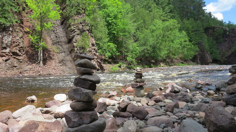 Beauty In Nature Day Forest Growth Nature No People Outdoors Pebbles And Stones River Rock - Object Rock Balance Tree Water
