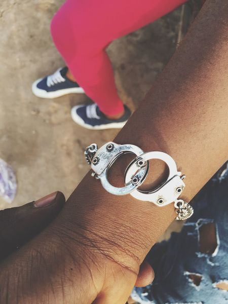 Real People Human Hand Lifestyles Human Body Part Close-up Day Bracelet Cuffs