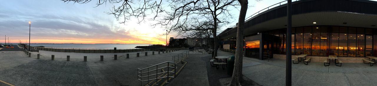 Kingsborough college beach sunset view panorama