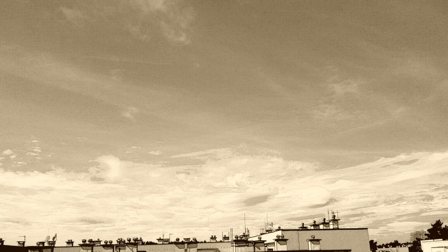 Hello World Hi Edit My Edit Sepia Sepia Edit Sepia_collection Sepia Photography Cloud - Sky Sky Architecture Nature Beauty In Nature Copy Space Built Structure Day City Cloudscape No People
