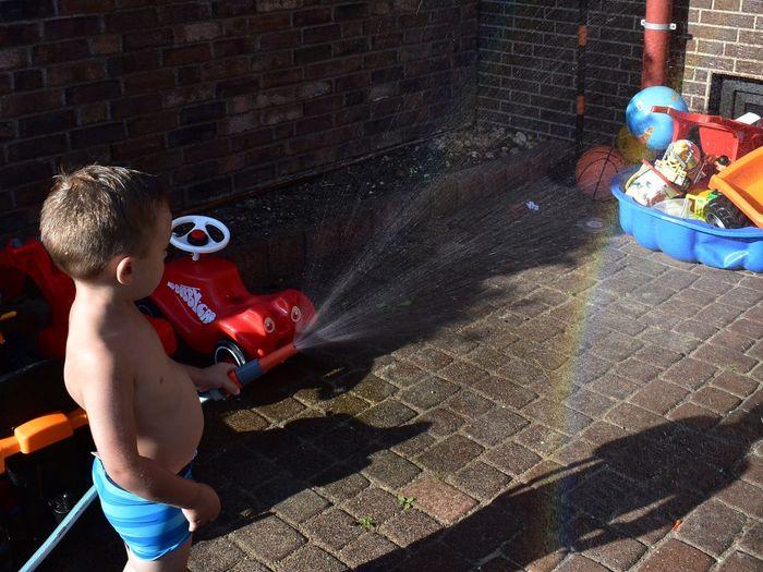 Sunlight Shirtless Childhood Men Shadow Water Nature