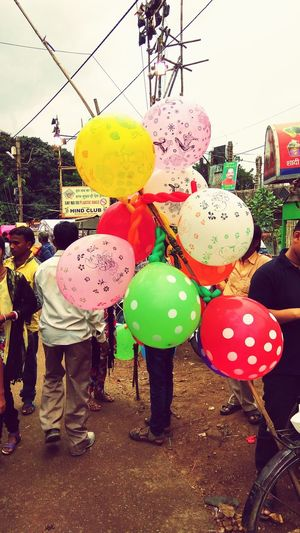 Balloons Festive Season Outdoors❤ Hanging Out Pandals