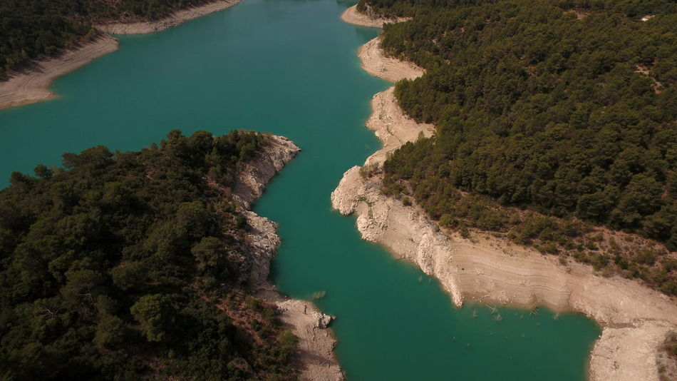 Seen Stausee Beauty In Nature Blue Water Day High Angle View Lake View Nature No People Outdoors Physical Geography River Scenics Sky Tranquil Scene Tranquility Tree Tree_collection  Water