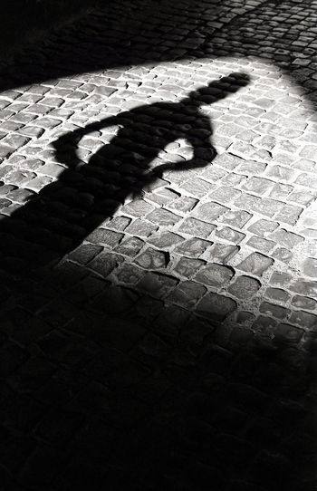 Shadow of people on ground
