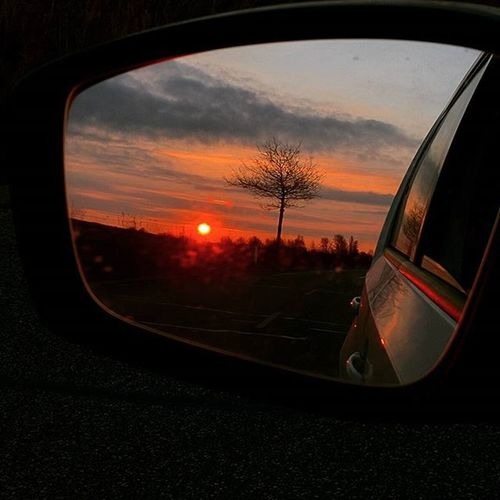 Looking back at sunset🌇 Huawei Huaweinexus6p Googlenexus Googlenexus6p Nexus6P Spring Sunset Summer Spring Tree Notreeleaves Missingleaves Leaves Sidemirror Sidemirrorshots Sidemirrorshot Orangesunset Redsunset Clouds Car Denmark Danmark Nordsjælland Omwhome Omwfromgym springbreak stillnotwarm missingwarmweather