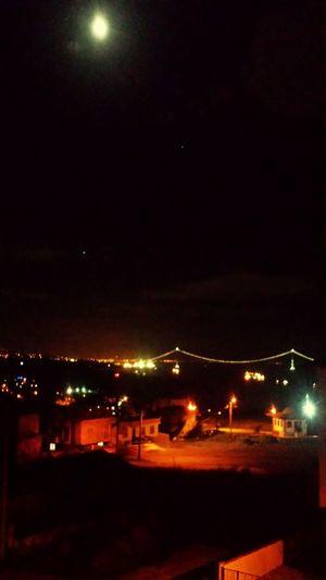 Moon Night Sea Neon Bosphorus