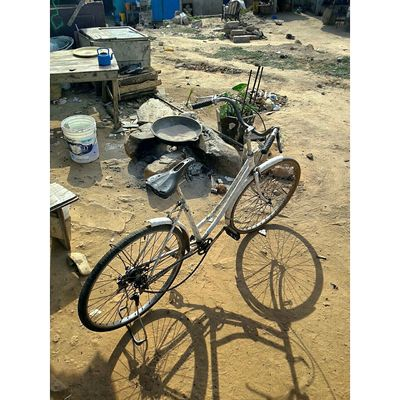 Self Drive mode..Ghana High Angle View Day Sand Bicycle Sunlight Outdoors No People Beach Shadow Close-up