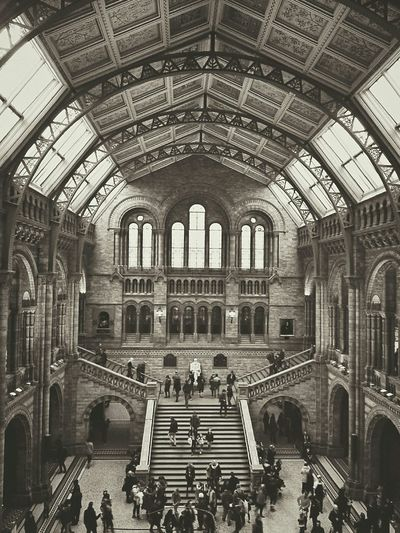 People watching. Light And Shadow Architecture_collection People Watching Monochrome Blackandwhite Architecture_bw B&W Collection London Historical Building Visiting Museum Interior Views