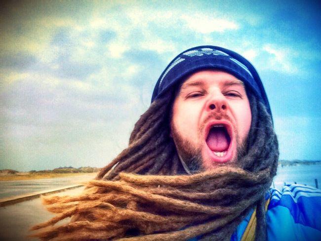 St. Peter Ording Beach Storm That's Me Self Portrait Self Potrait