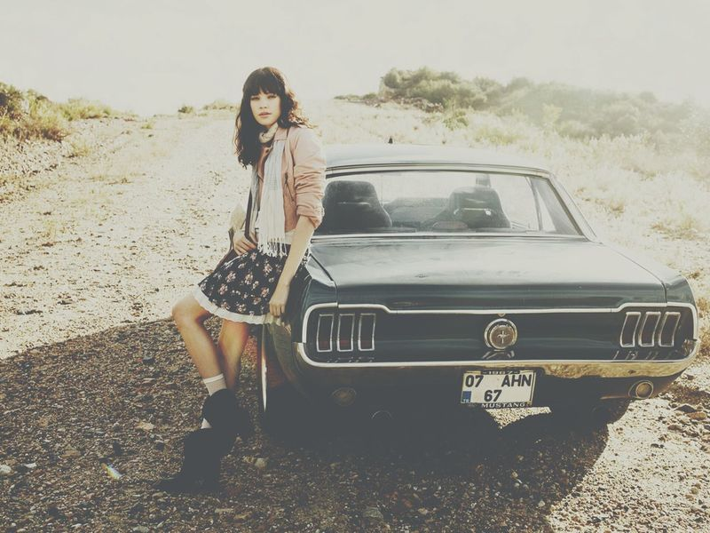 Ford Mustang Angel Girl Retro USA Shelby  Car Collection
