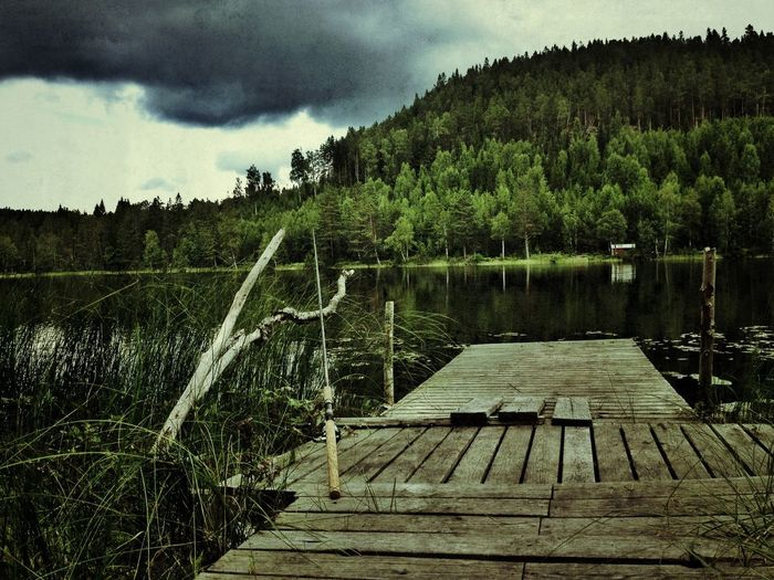 A picture from last year when i went fishing with grandpa and my friend in, Norrland Sweden Nature Scenery Lake
