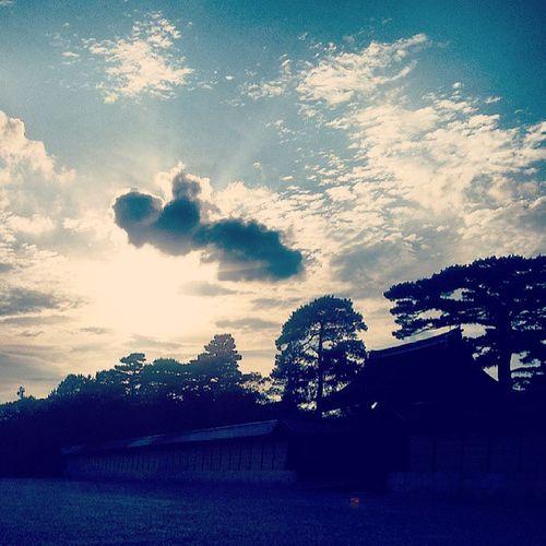 Sunset over the Imperialpalace KyotoNationalGarden