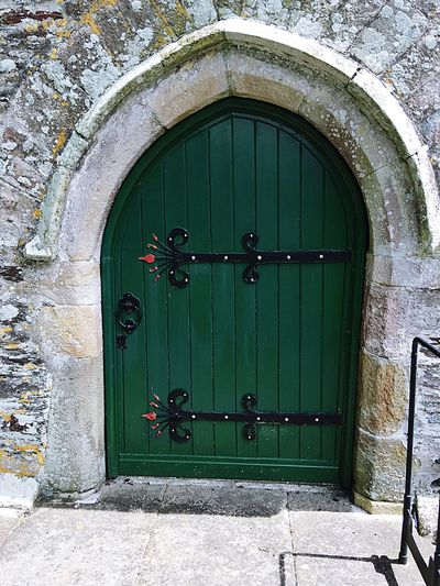 Green Door Church Churchdoor Historical Building Old Check This Out History Centuries Old Entrance DISUSED Hingedesign Wrought Iron Blacksmith  Rusty