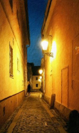 An old painting scene Impressio app Painterly Night Lights Lg G2 Hidden Worlds Mystery Nightlife Night On The Town Nightwalk
