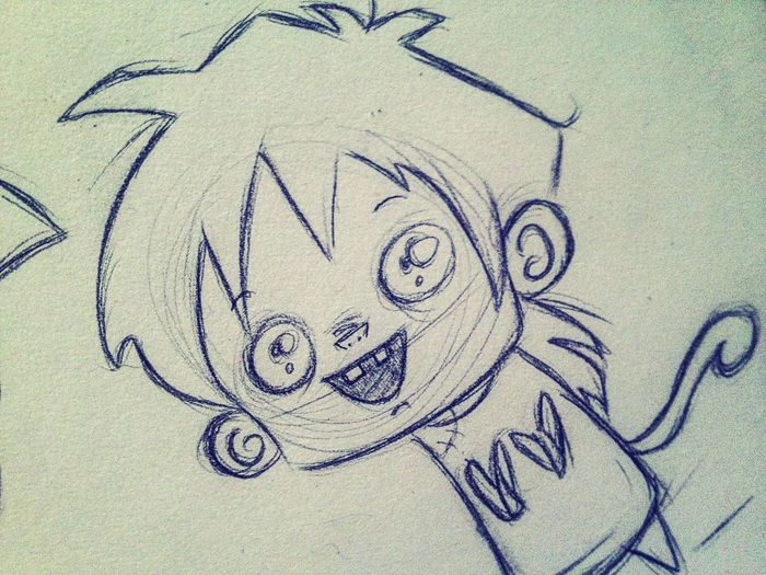 Art DBZ Gohan Wip Fanart Cartoon Doodle Anime Cute Drawing