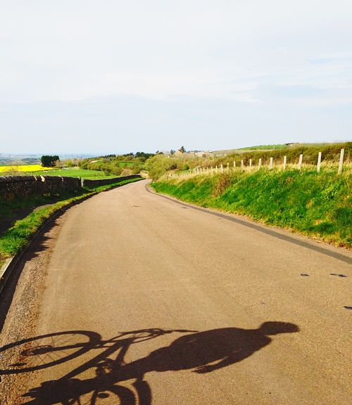 Berwick Bike Ride Light And Shadow Shillouette