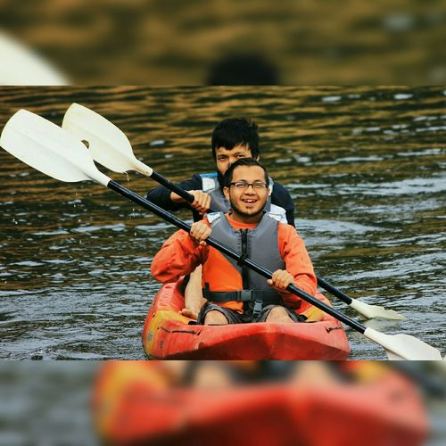 Kayaking at Umiam lake Meghalaya Taking Photos