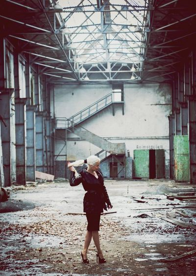 A photoshoot in a creepy abandoned harbour facility. During Soviet Union there was even a crematorium inside there! Girl Street Fashion Eye4photography  Enjoying Life Architecture Model
