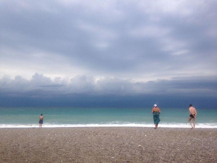 Before Sunrise Sea Sky Cloud - Sky Water Beach Nature Real People