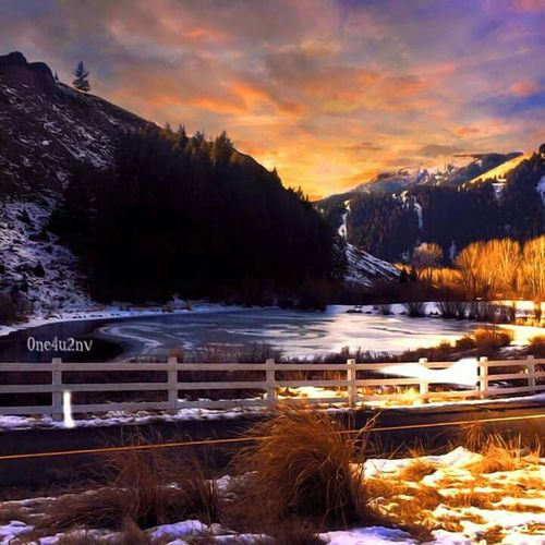 BEAUTIFUL pic my friend took and edited! Check This Out How's The Weather Today? Outdoors Ketchum, Idaho Capturing Freedom The Beauty In Things Home Sweet Home