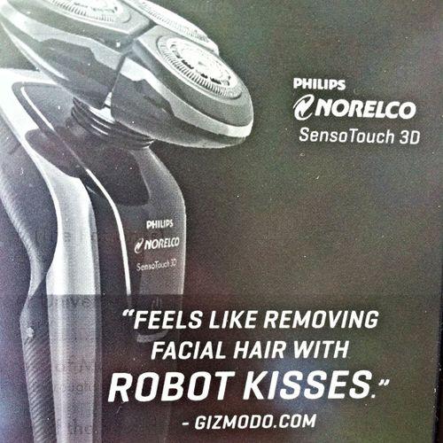 Robot Advertising Robot Kisses
