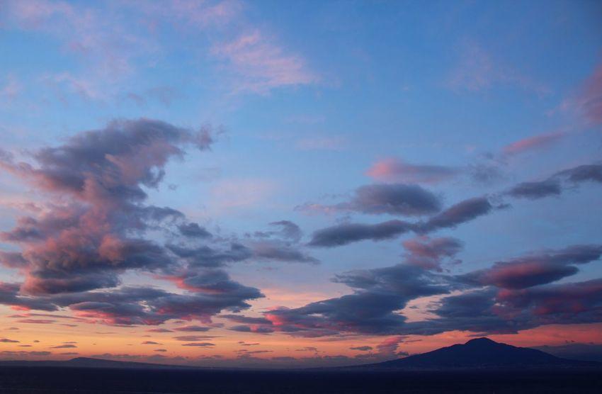 Cloud - Sky Tadaa Community Picoftheday Amazing View Napoli Sunset Multi Colored Red Blue Mountain Beauty Tree Dramatic Sky Sky Landscape Romantic Sky Cloudscape Silhouette Majestic Evening Meteorology