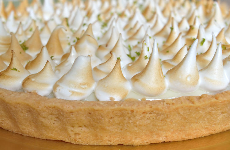 Closeup of a Lemon Pie with meringue top Dessert Lemon Pie Closeup Day Delicious Details Food Freshness Indoors  Indulgence Meringue No People Ready-to-eat Sweet Food