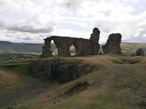 Wales EyeEm Best Shots Ruin Dinas Bran Ruined Wall Castle Walls Lanscape Photography Castle Ruin Ancient Civilization History Ancient Old Ruin City Sky Cloud - Sky Castle Ancient History Historic Medieval