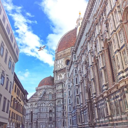 Architecture Building Exterior Built Structure Low Angle View Religion Sky Spirituality Travel Destinations Place Of Worship Outdoors Day No People Dome City Fresco Bell Tower Firenze Firenzetoday Firenze, Italy Adapted To The City EyeEm Adapted To The City EyeEmNewHere
