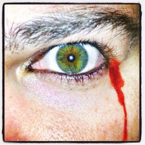 Cry Blood Green Eye