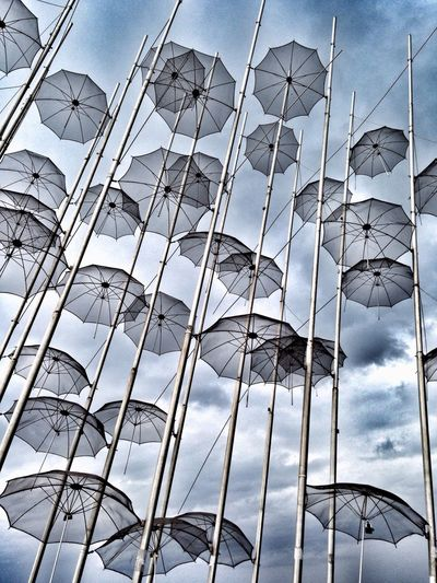 Umbrellas Sculpture Art Design Thessaloniki Greece Thessaloniki Port  Salonika Landmark Photography Urban