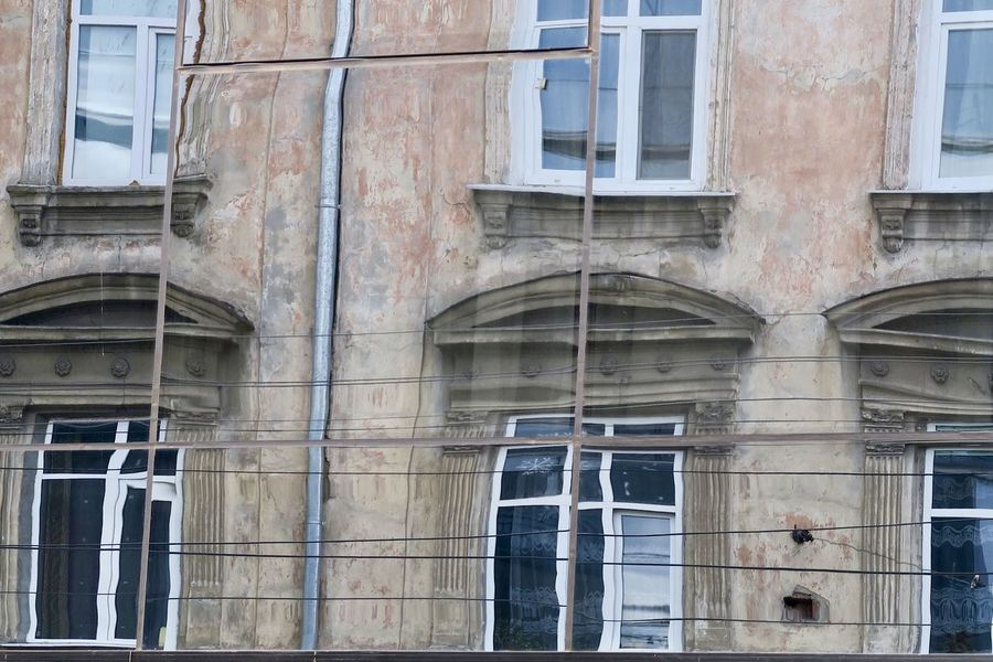 Architecture Building Exterior Built Structure Day Landscape Mirror Mirror Picture No People Outdoors Reflexion Photography Ukraine Window Window Reflections