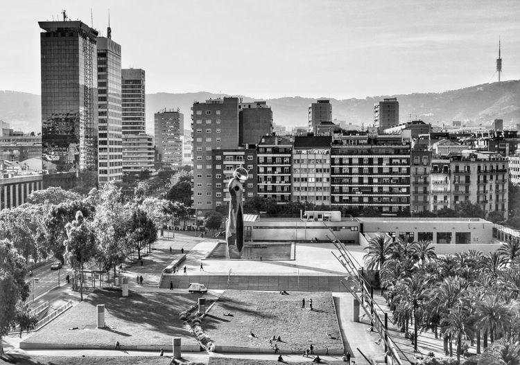 Part of Barcelona - Una parte de Barcelona First Eyeem Photo Barcelona City SPAIN Blackandwhite Park Skycraper Buildings Parque  Joanmiro Blancoynegro Edificios c Ciudad Catalunya Catalonia España PAISAJE URBANO Urban Landscape