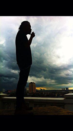 Men In Black Sunset Take Photos Magic Hour