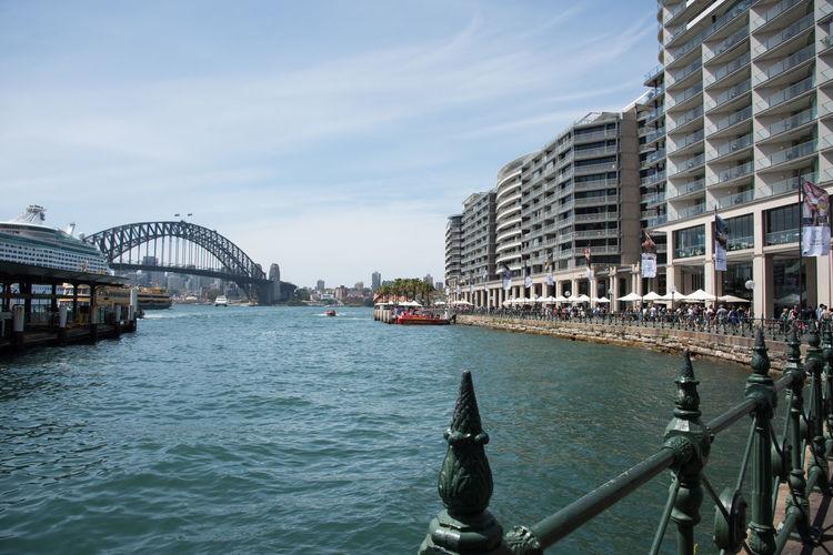 Sydney Harbour Bridge Over Sea In City