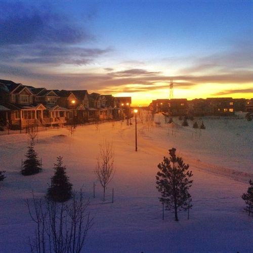 Amazing sunset in Canada Sunset Alberta